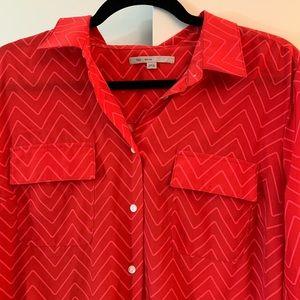 Red chevron Gap dress.